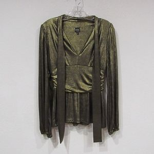 ABS Collection Gold Long Sleeve Blouse